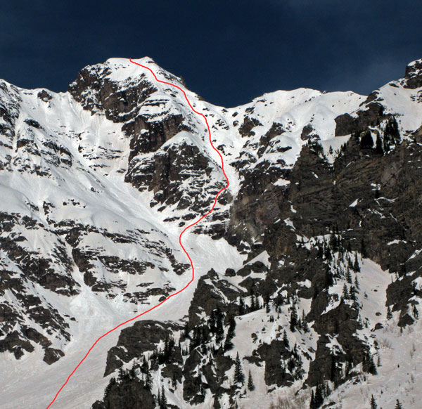 14er Ski Descents – Pyramid Peak – April 28, 2008