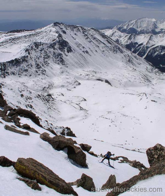 14er Ski Descents – Mount Columbia – May 8, 2004