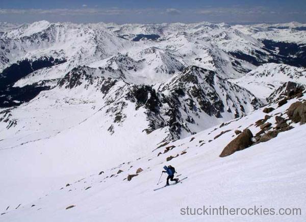 14er Ski Descents – Mount Harvard – May 8, 2004