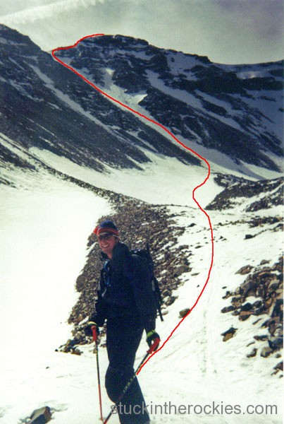 14er Ski Descents – Castle Peak – October 20, 2002