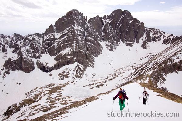 ski humboldt peak, ski 14ers, kim havell