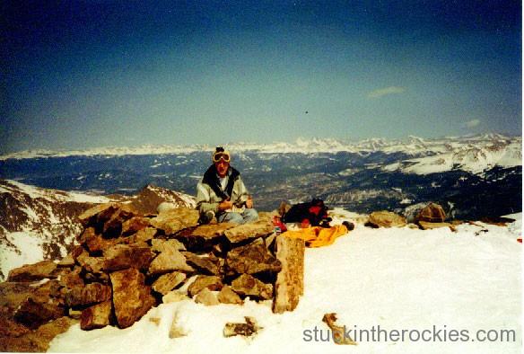 14er Ski Descents – Quandary Peak – March 23, 1999