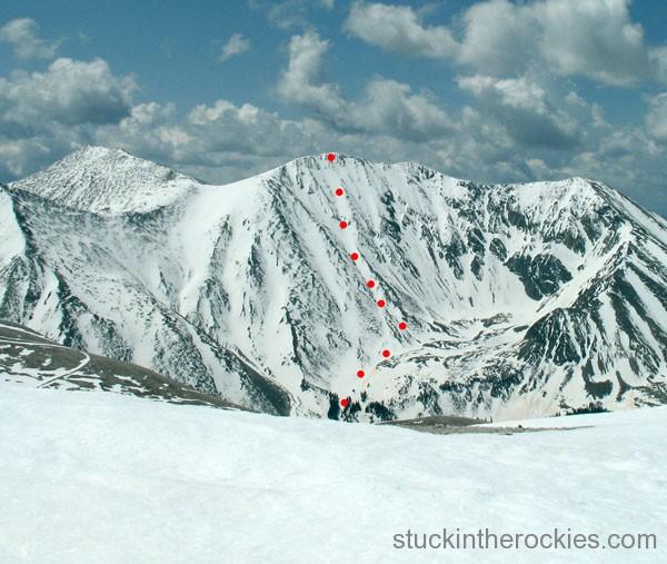 14er Ski Descents – Tabeguache Peak – May 20, 2007
