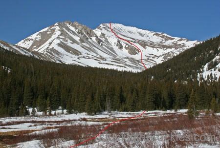 14er Ski Descents – Mount Yale – April 19, 2005