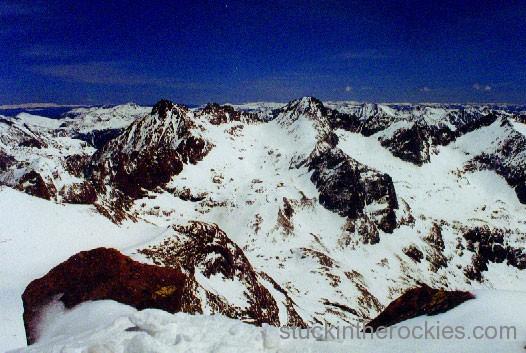 14er Ski Descents – Mount Eolus – May 9, 2000