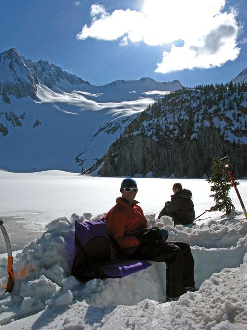 At camp at Snowmass Lake.