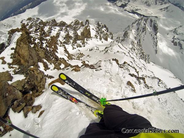 Cathedral Peak, Pearl Couloir, Centennial Skiers, kastle skis