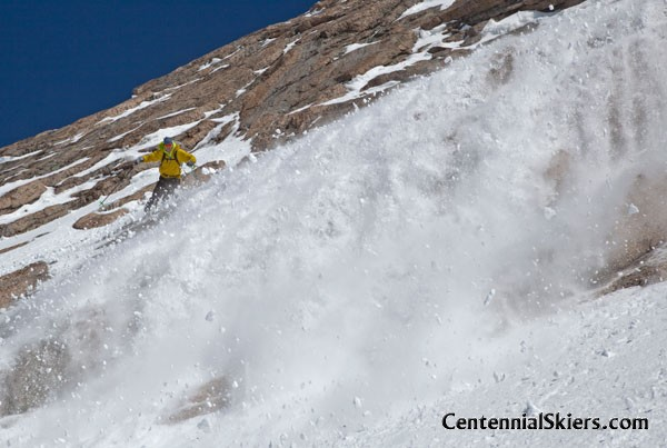 Mount Meeker, dragon egg couloir, chris davenport