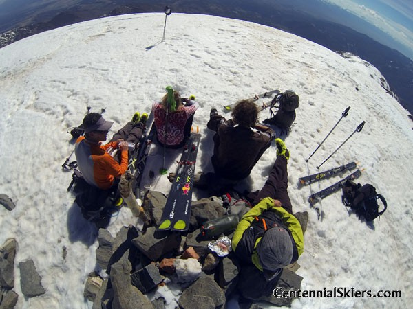 Chillin' on the summit.