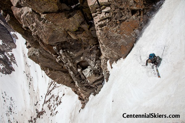 It was the best couloir skiing we've found through the past two weeks.