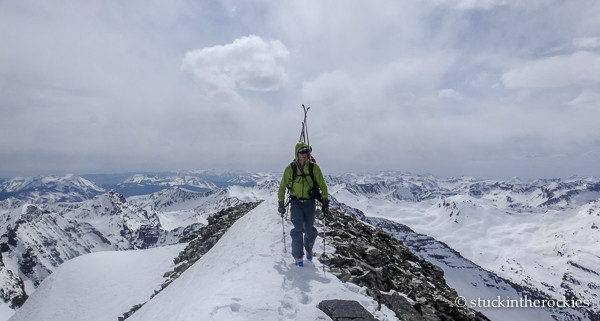 Ted Mahon on the summit of Conundrum peak