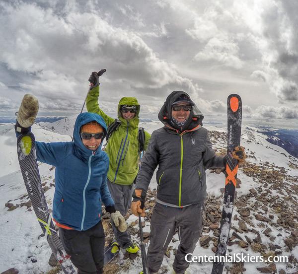 Centennial Skiers on the summit of Mount Stewart