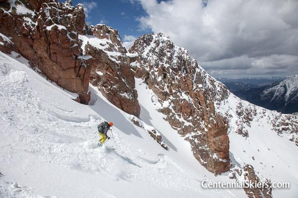 Christy Mahon skis into North Pigeon Creek