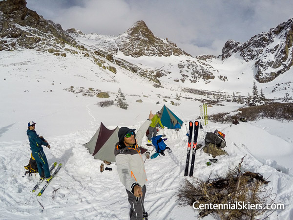 North Pigeon Creek camp, Centennial Skiers