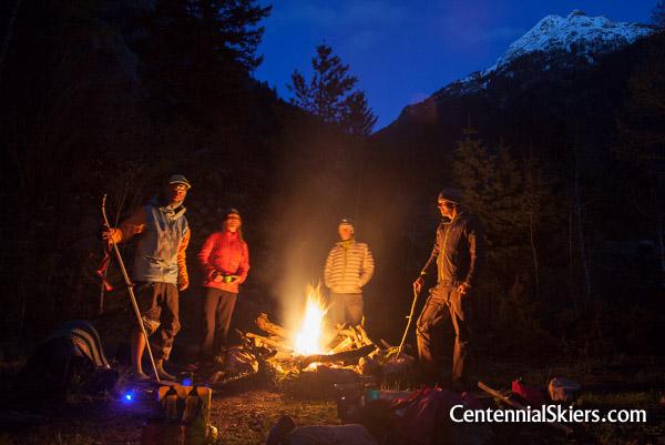 Noname Creek camp en route to ski Jagged Mountain