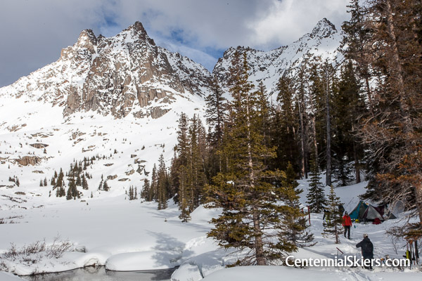 High camp for the Centennial Skiers