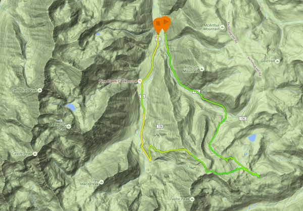 The route, clockwise.