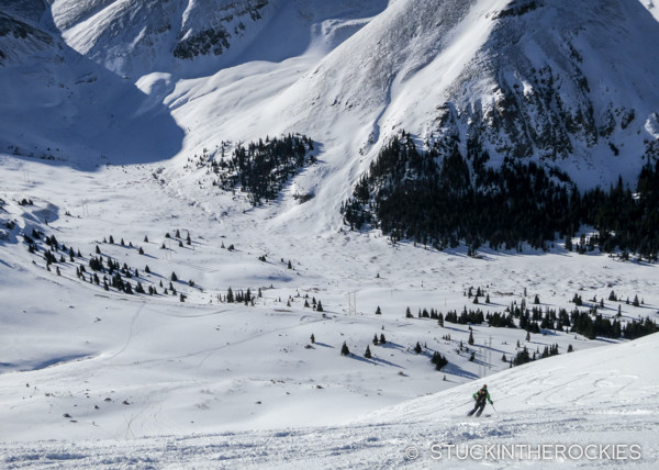 Skiing East Ball Mountain in the Father Dyer Postal Route