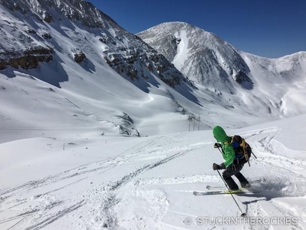 Skiing Dyer Mountain