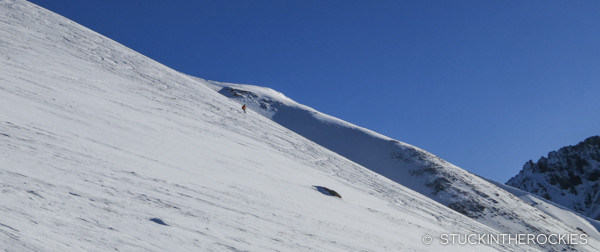 Father Dyer Postal Route ski descent down East Ball Mountain