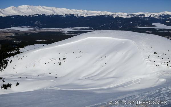 Ball Mountain ski descent