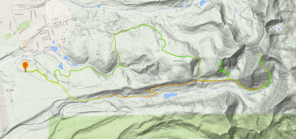 The GPS track of the Father Dyer Postal Route