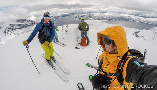 On the summit of Andersdaltinden