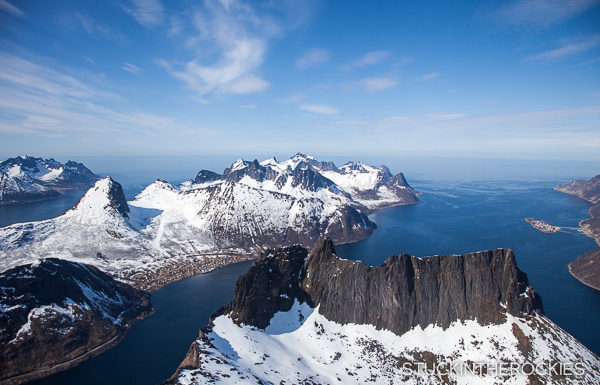 The view from Grytetippen in Senja Norway