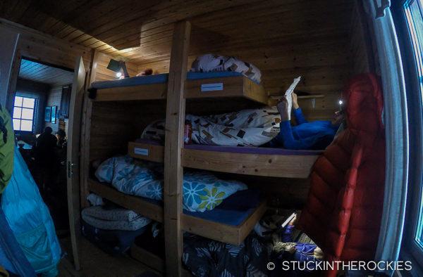 Bunk beds at Trollfjordhytte