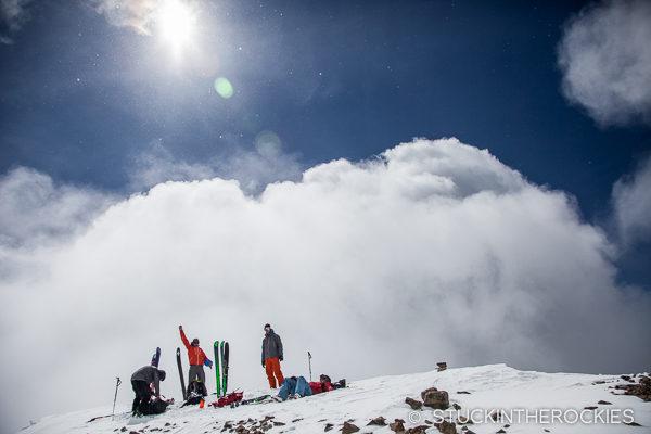 On the summit of Castle Peak