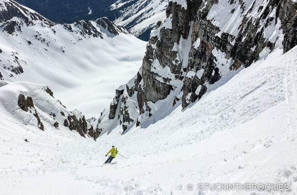Skiing Castle Peak