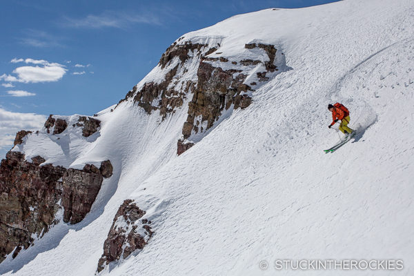 Christy Mahon skis Electric Peak