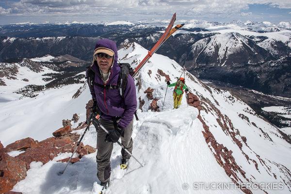 Climbing Leahy Peak
