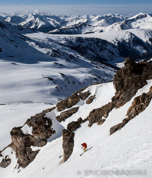 Christy Mahon skis West Geissler on Independence pass