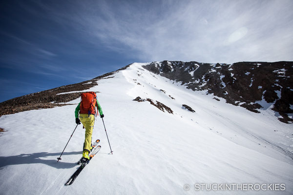 Christy Mahon skis Mount Aetna.