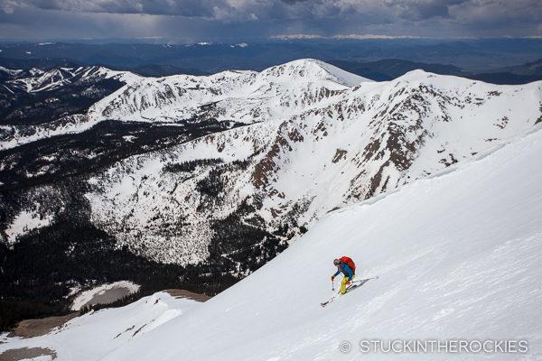 Skiing Mount Aetna Colorado