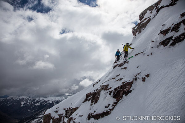Skiing the North Face of North Maroon Peak