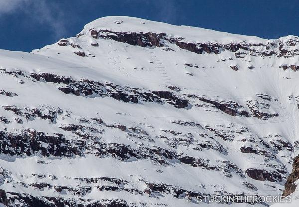Ski line on North Maroon Peak