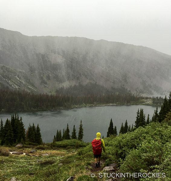 Bad weather at Brush Lakes.