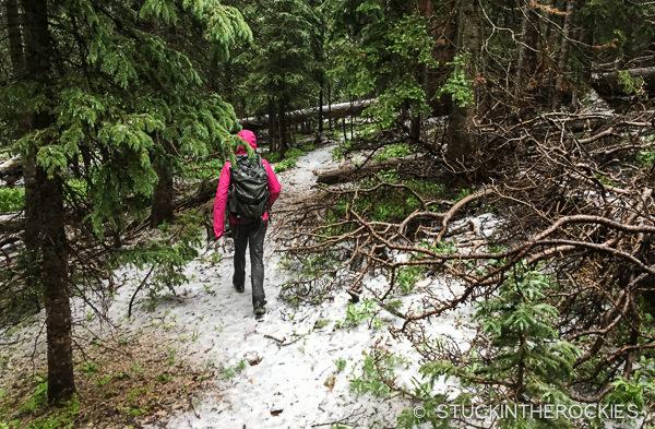 Accumulating hail at Brush Lakes