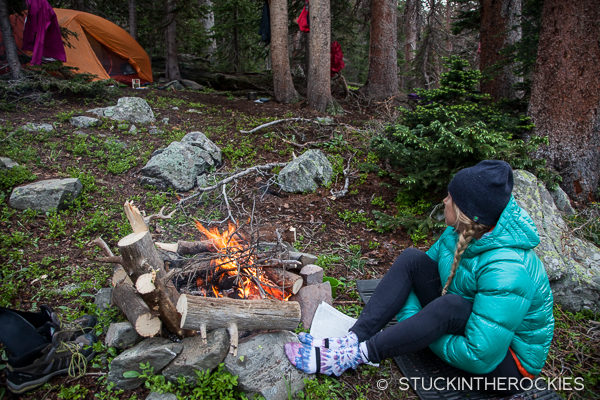 Campfire at Brush Lakes