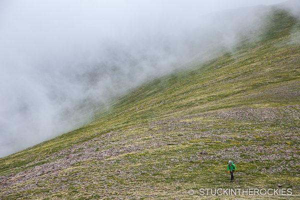 Hiking the ridge in the Sangre de Cristos
