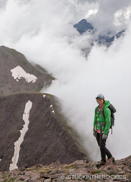 Christy Mahon on the summit of Electric Peak