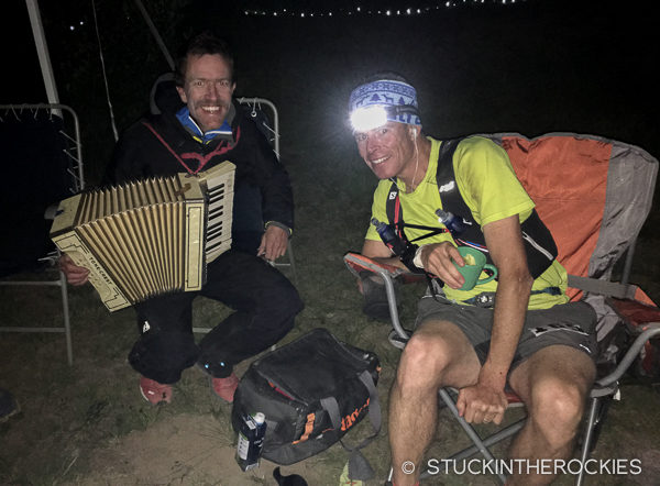 At Grouse Gulch, mile 60 at the 2016 Hardrock 100