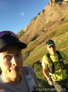 Ted Mahon and Pete Gaston at the Hardrock 100