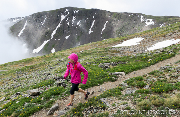 Christy Mahon on the South Elbert Trail