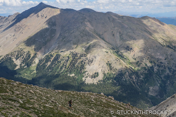 Eric Sullivan descends Mount Yale