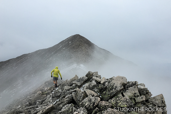 SUlly heads to Mount Princeton during Nolans 14