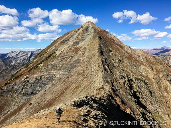 Afley Peak on the Ruby Ridge Traverse