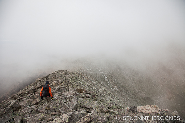 On the ridge between Garner Pass and Cottonwood Peak.